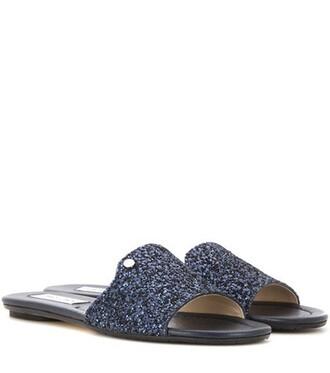 glitter sandals blue shoes
