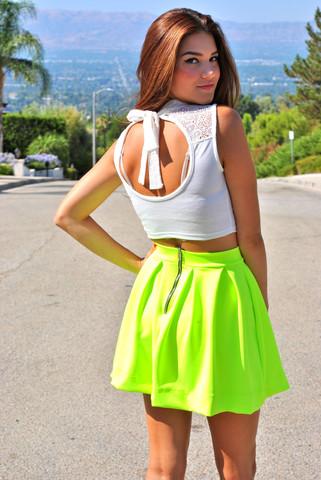 Neon tulip skirt