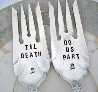 home accessory til death do we part silver serving halloween halloween decor kitchen dinnerware metallic home decor
