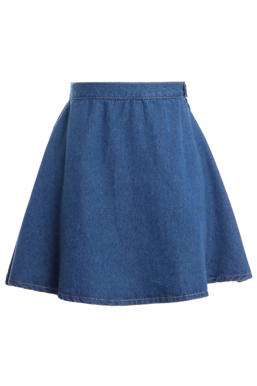 High Waist Dark Blue Denim Skirt, The Latest Street Fashion