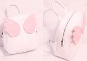 bag,backpack,knapsack,bookbag,cute,petite,light pink,pink,pastel,pastel pink,lovely,kawaii,sweet,lolita,sweetheart,wings,angel wings,angel,angels wings,soft,soft grunge,phone cover