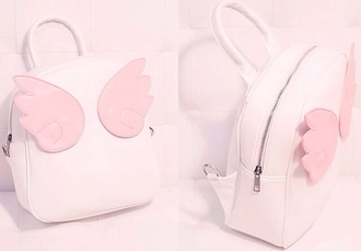 bag backpack knapsack bookbag cute petite light pink pink pastel pastel pink lovely kawaii sweet lolita sweetheart wings angel wings angel angels wings soft soft grunge phone cover