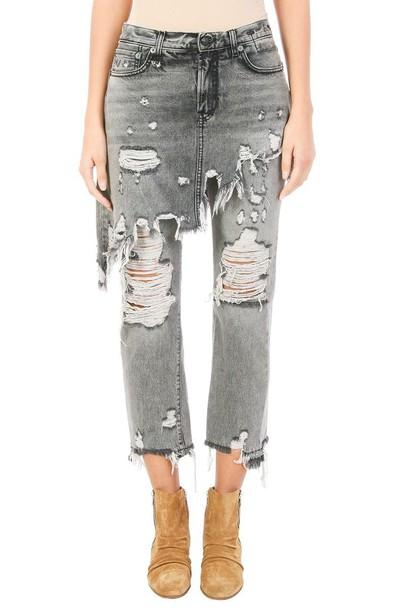 R13 jeans cotton grey black