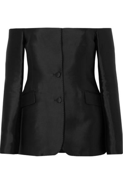 Gabriela Hearst blazer black silk wool jacket