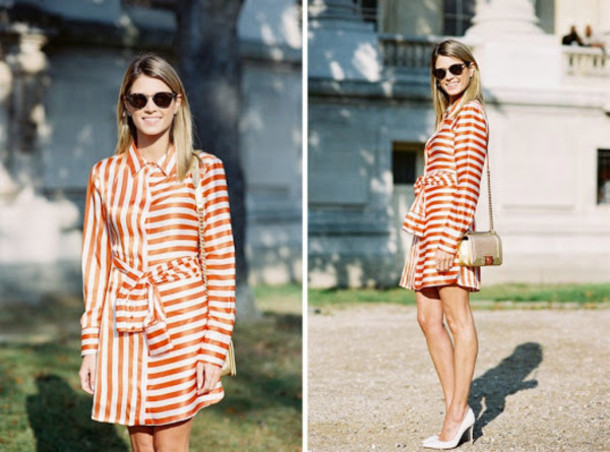 vanessa jackman blogger striped dress