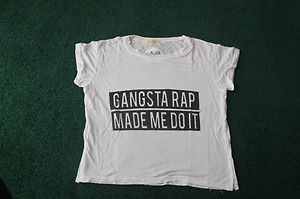 Brandy Melville Gangsta Rap Made Me Do It Crop Shirt | eBay