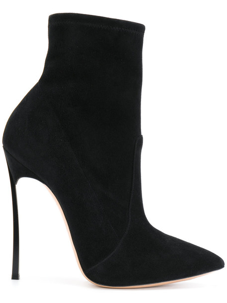 CASADEI boot women leather suede black shoes