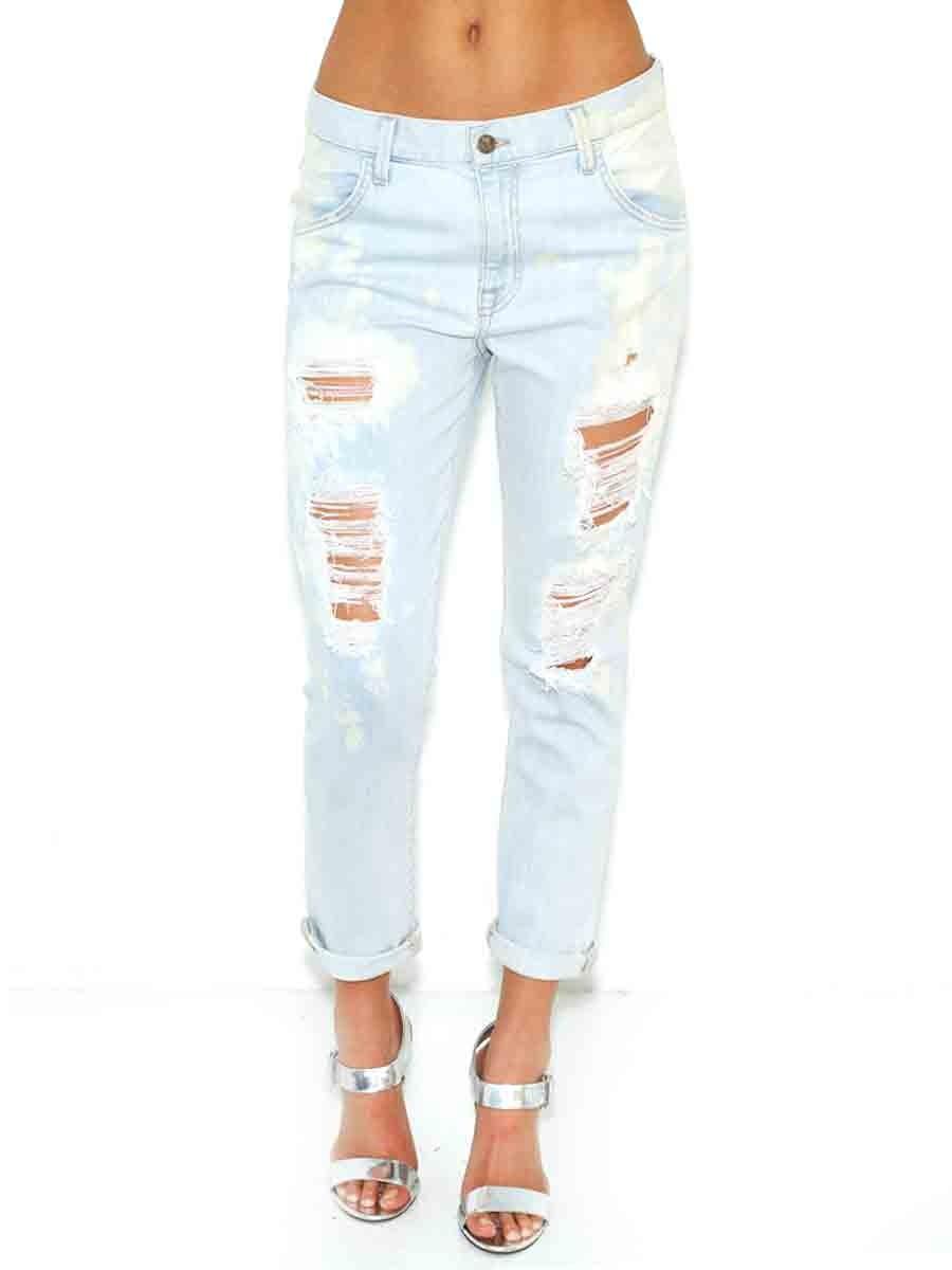 Wildfox denim marissa jeans in denim glory as seen on alessandra ambrosio