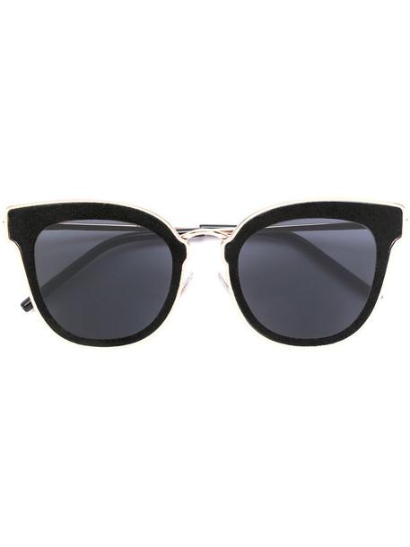 Jimmy Choo Eyewear metal women sunglasses leather black