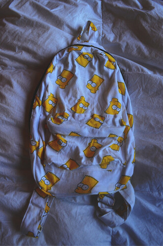 bart simpson backpack tumblr bag