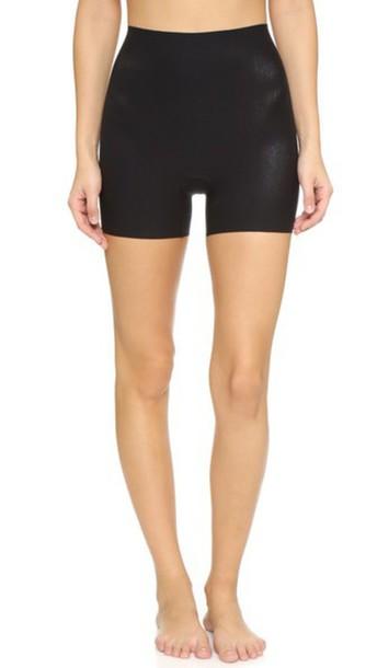 Commando Cotton Control Shortie Shorts - Black