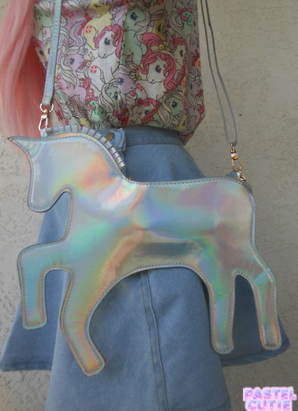 bag unicorn bag shirt skirt grunge wishlist shiny grunge accessories funny purse holographic