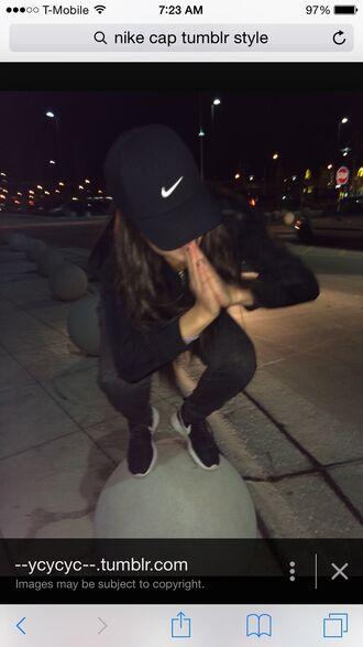hat nike air nike running shoes nikes nike tumblr cap