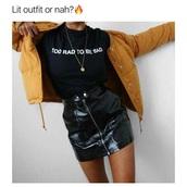 shirt,black,rad,too rad to be sad