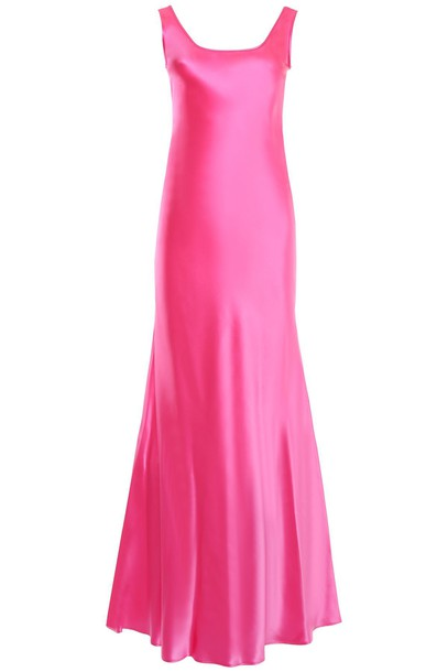 Alberta Ferretti dress satin dress fluo satin