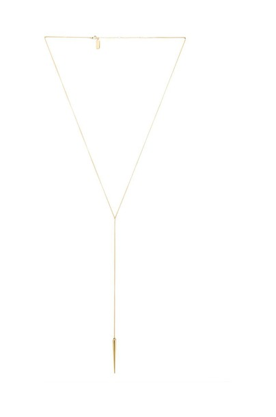 Melanie Auld Spike Lariat Necklace in gold / metallic