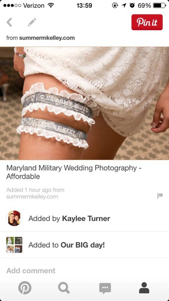home accessory army garter wedding accessories