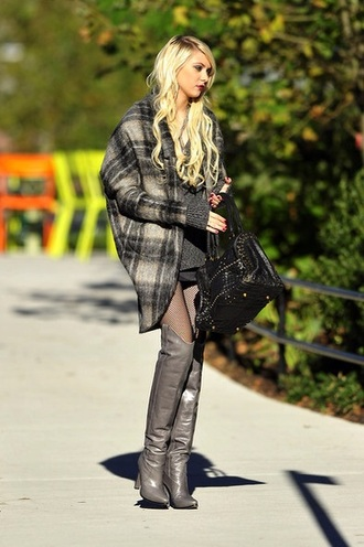 shoes knee high boots grey boots high heels boots