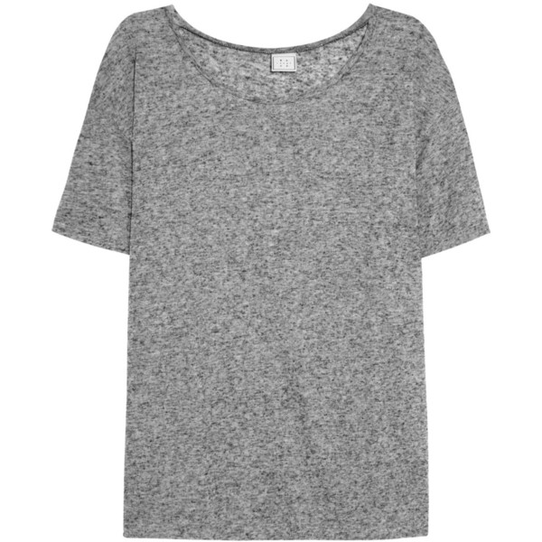Base Range Linen and cotton-blend T-shirt - Polyvore