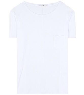 t-shirt shirt cotton t-shirt boyfriend cotton white top