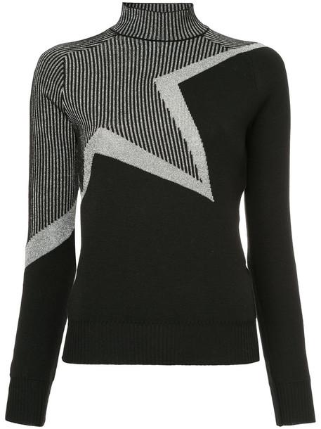 MUGLER sweater women black wool