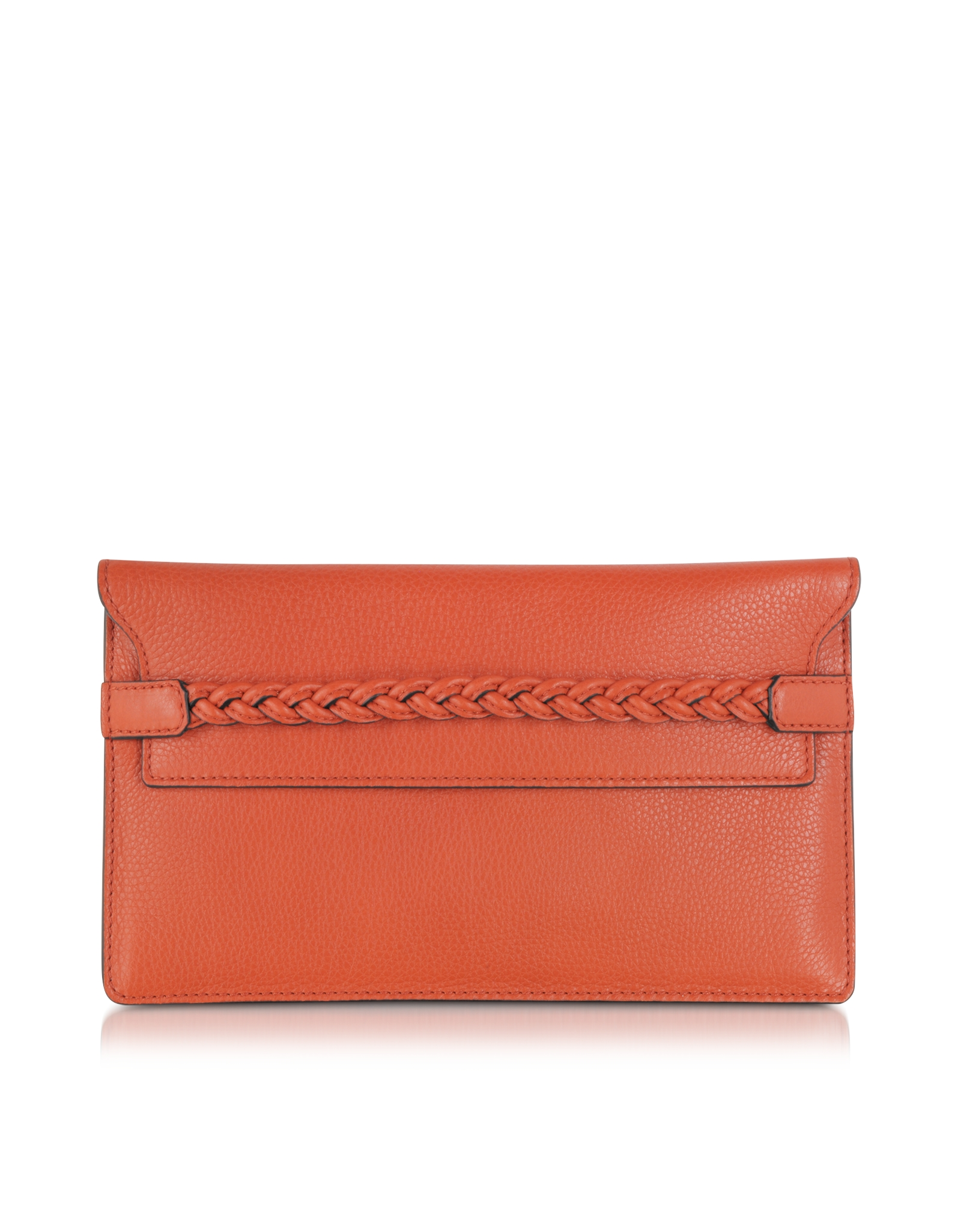 Valentino english red leather clutch