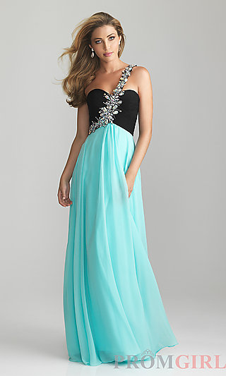 Designer Prom Dress, Night Moves Prom Gowns and Dresses- PromGirl