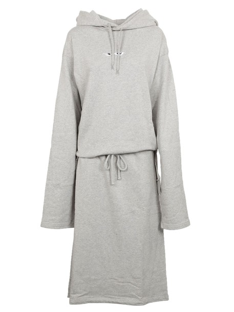 Vetements dress jersey dress embroidered grey