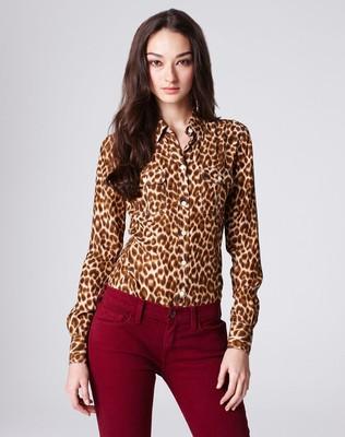 Lucky brand joan cheetah blouse