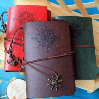 home accessory notebook vintage notebook brown brown notebook leather leather notebook brown leather notebook vintage back to school school accessory school notebook cute