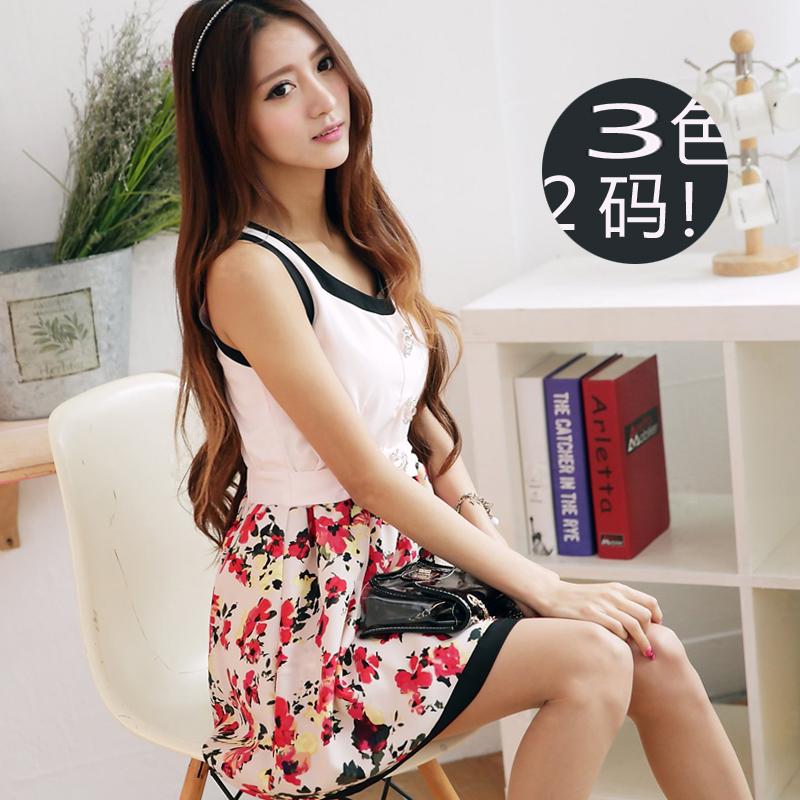 taobao agent , 包邮2014夏装新款女装碎花学院背心式裙 连衣裙 ,taobao english , taobao paypal
