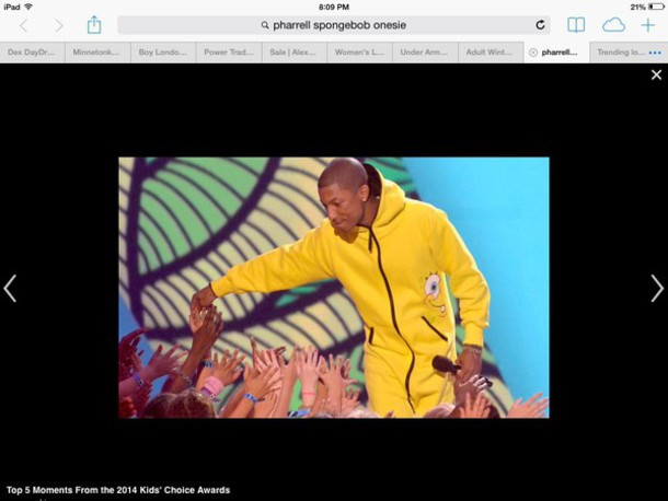 pharrell williams spongebob onesie menswear