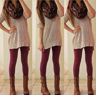 scarf leopard print sweater burgundy cute want all back to school skirt