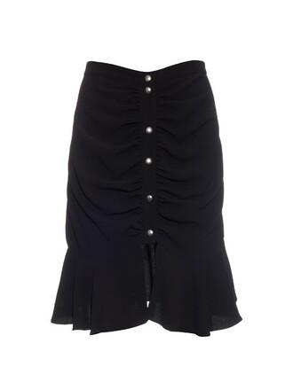 skirt ruffle black