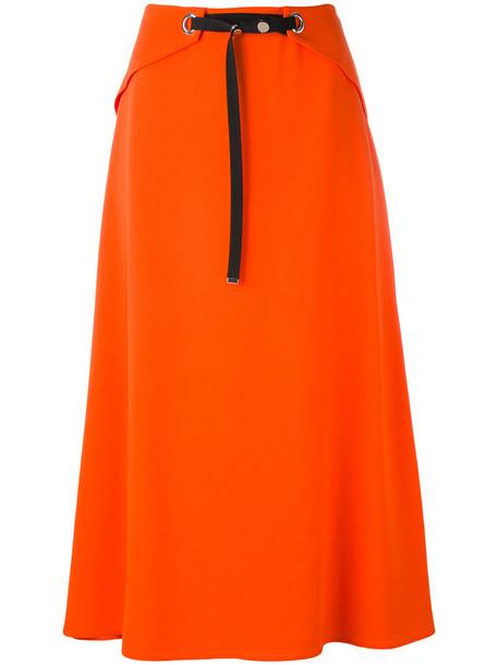 MUGLER skirt midi skirt women midi yellow orange