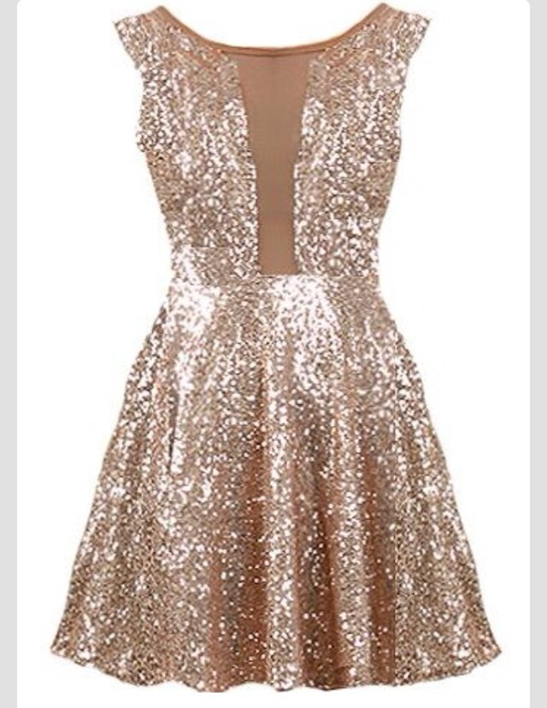 Dress gold gold sequins new year 39 s eve wheretoget for Glitter new years dresses