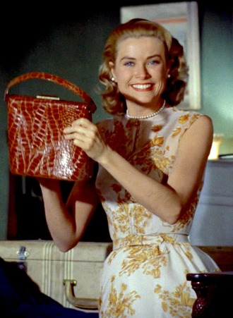 bag grace kelly actress dress floral dress necklace pearl necklace brown bag hairstyles retro