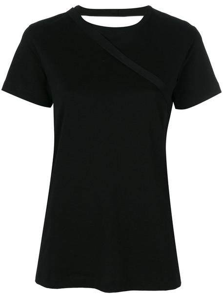 Helmut Lang t-shirt shirt t-shirt women cotton black top