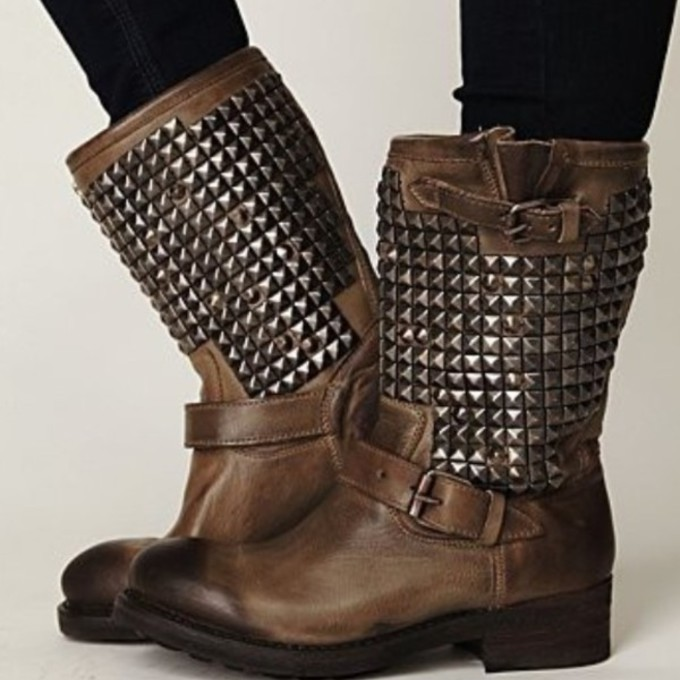 shoes boots studded shoes brown leather boots brown shoes leather