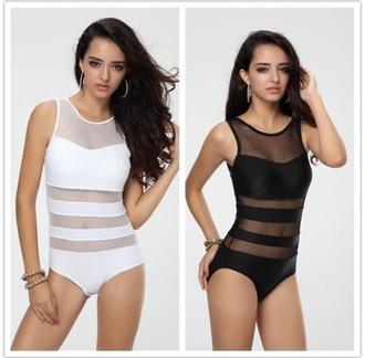 swimwear white skins