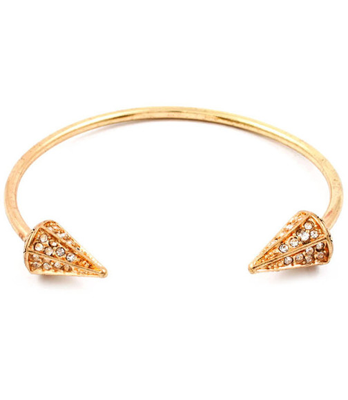 jewels cone bangle rhinestone