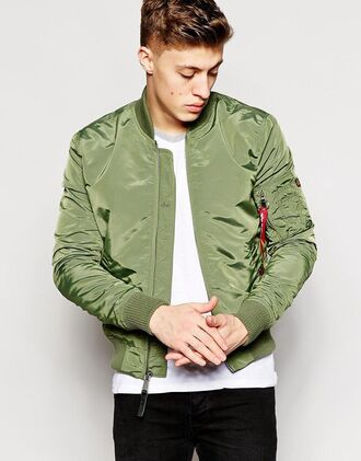 jacket mens bomber mens bomber jacket green
