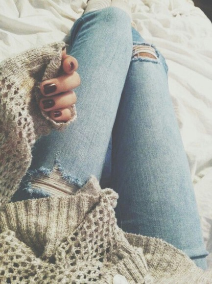 jeans ripped jeans ripped light jeans hipster blue light wash ripped boho cute