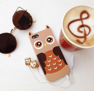 phone cover brown pink colorful orange iphone cover iphone 5 case iphone iphone case owl