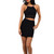 Black Cut Out Front Lace Detail Dress | Emprada
