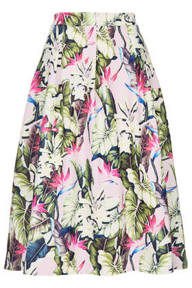 Tropical Scuba Midi Skirt - Topshop USA