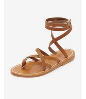 shoes,flat sandals,strappy flats,brown