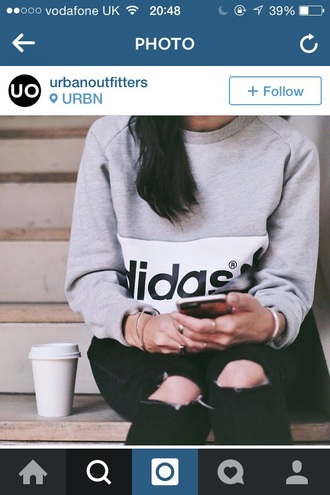 sweater adidas jumper urban outfitters jeans top