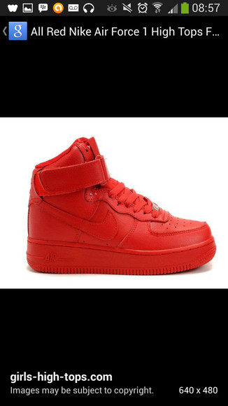 shoes sneakers trainers nike nike air force 1 high top