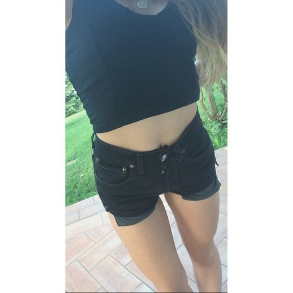 denim jeans shorts denim shorts vintage High waisted shorts studs short